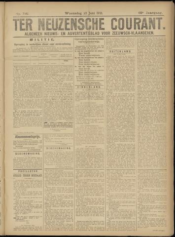 Ter Neuzensche Courant. Algemeen Nieuws- en Advertentieblad voor Zeeuwsch-Vlaanderen / Neuzensche Courant ... (idem) / (Algemeen) nieuws en advertentieblad voor Zeeuwsch-Vlaanderen 1921-06-22