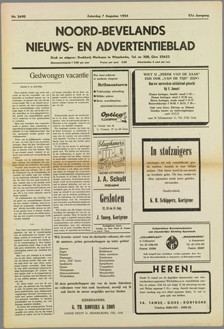 Noord-Bevelands Nieuws- en advertentieblad 1954-08-07