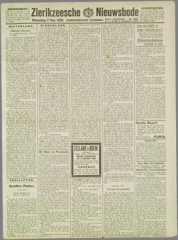 Zierikzeesche Nieuwsbode 1926-11-17