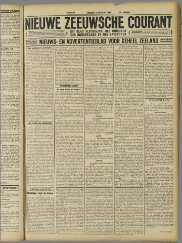 Nieuwe Zeeuwsche Courant 1927-08-09