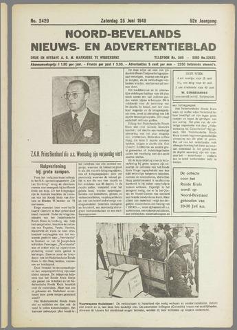 Noord-Bevelands Nieuws- en advertentieblad 1949-06-25