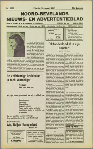 Noord-Bevelands Nieuws- en advertentieblad 1952-01-26