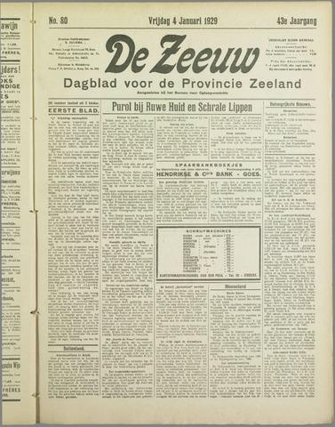 De Zeeuw. Christelijk-historisch nieuwsblad voor Zeeland 1929-01-04