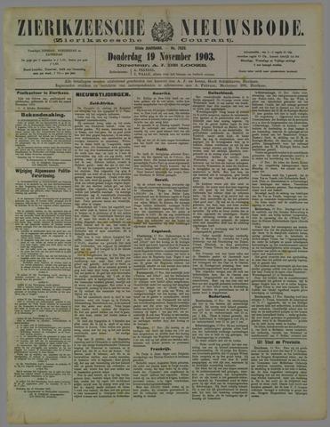 Zierikzeesche Nieuwsbode 1903-11-19