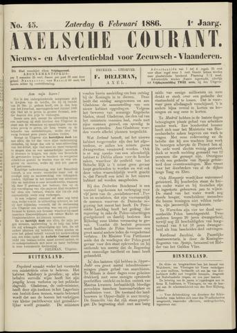 Axelsche Courant 1886-02-06