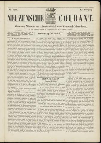 Ter Neuzensche Courant. Algemeen Nieuws- en Advertentieblad voor Zeeuwsch-Vlaanderen / Neuzensche Courant ... (idem) / (Algemeen) nieuws en advertentieblad voor Zeeuwsch-Vlaanderen 1877-06-20