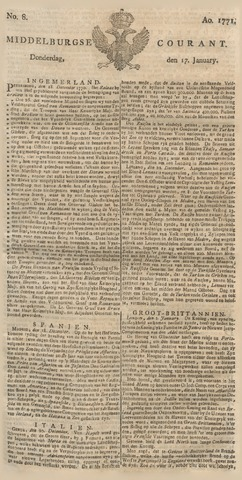 Middelburgsche Courant 1771-01-17