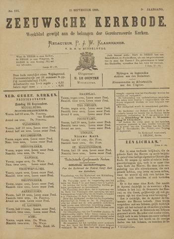 Zeeuwsche kerkbode, weekblad gewijd aan de belangen der gereformeerde kerken/ Zeeuwsch kerkblad 1889-09-21
