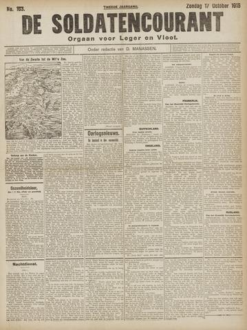 De Soldatencourant. Orgaan voor Leger en Vloot 1915-10-17