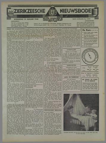 Zierikzeesche Nieuwsbode 1940-01-31