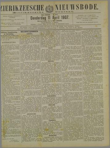 Zierikzeesche Nieuwsbode 1907-04-11
