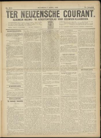 Ter Neuzensche Courant. Algemeen Nieuws- en Advertentieblad voor Zeeuwsch-Vlaanderen / Neuzensche Courant ... (idem) / (Algemeen) nieuws en advertentieblad voor Zeeuwsch-Vlaanderen 1930-04-07