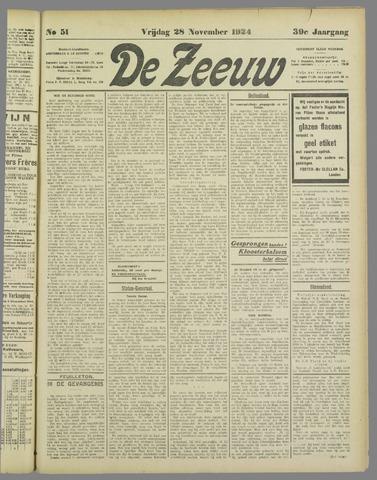 De Zeeuw. Christelijk-historisch nieuwsblad voor Zeeland 1924-11-28