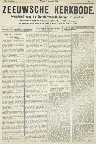 Zeeuwsche kerkbode, weekblad gewijd aan de belangen der gereformeerde kerken/ Zeeuwsch kerkblad 1927-01-21
