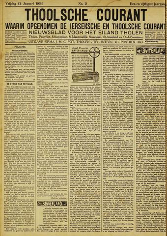 Ierseksche en Thoolsche Courant 1934-01-12