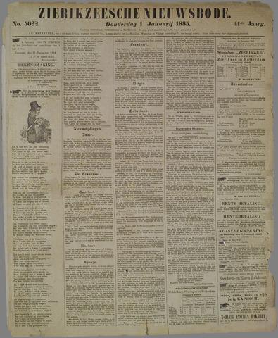 Zierikzeesche Nieuwsbode 1885-01-01