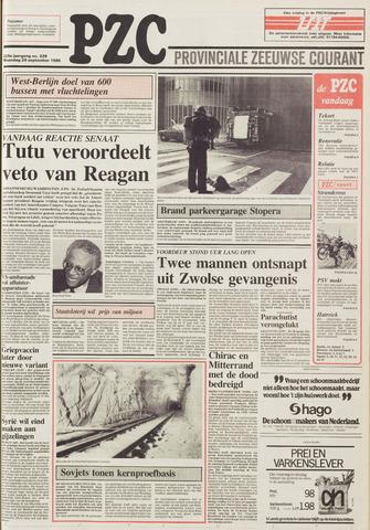 Provinciale Zeeuwse Courant 1986-09-29