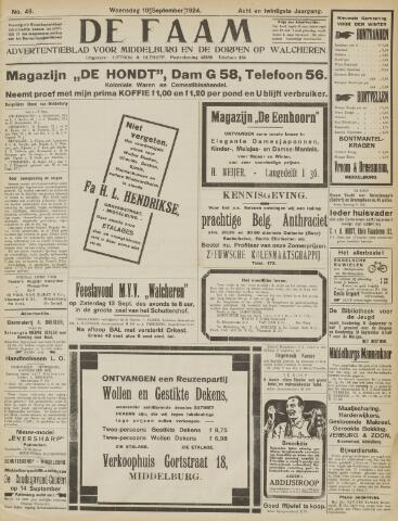 de Faam en de Faam/de Vlissinger 1924-09-10
