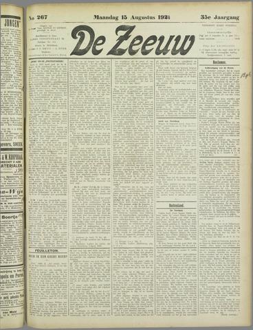 De Zeeuw. Christelijk-historisch nieuwsblad voor Zeeland 1921-08-15