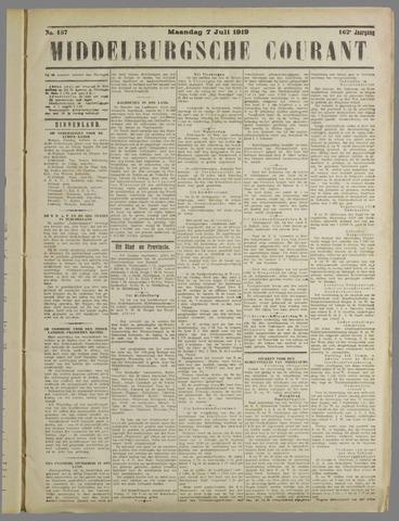 Middelburgsche Courant 1919-07-07