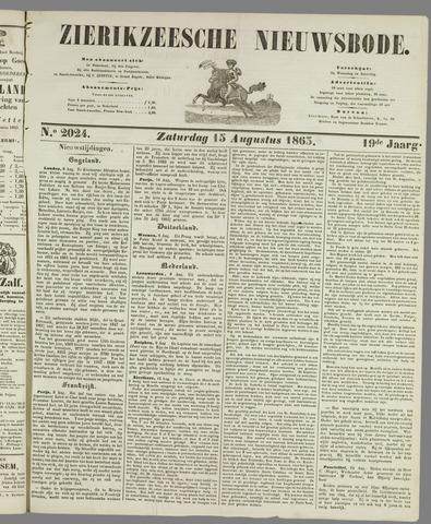 Zierikzeesche Nieuwsbode 1863-08-15