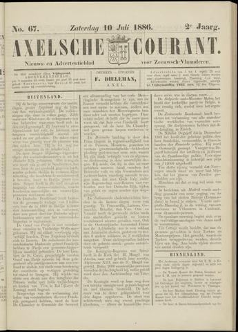 Axelsche Courant 1886-07-10