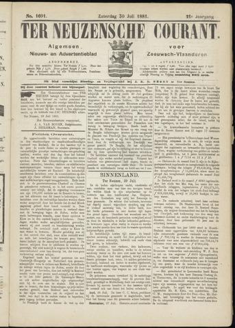 Ter Neuzensche Courant. Algemeen Nieuws- en Advertentieblad voor Zeeuwsch-Vlaanderen / Neuzensche Courant ... (idem) / (Algemeen) nieuws en advertentieblad voor Zeeuwsch-Vlaanderen 1881-07-30