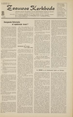 Zeeuwsche kerkbode, weekblad gewijd aan de belangen der gereformeerde kerken/ Zeeuwsch kerkblad 1963-08-30
