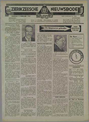 Zierikzeesche Nieuwsbode 1937-02-09