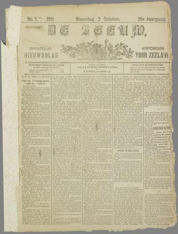 De Zeeuw. Christelijk-historisch nieuwsblad voor Zeeland 1911-10-02