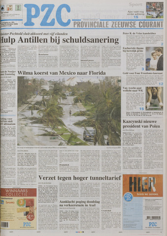 Provinciale Zeeuwse Courant 2005-10-24