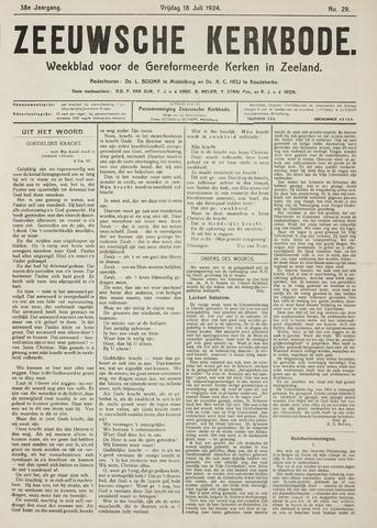 Zeeuwsche kerkbode, weekblad gewijd aan de belangen der gereformeerde kerken/ Zeeuwsch kerkblad 1924-07-18