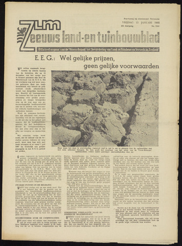 Zeeuwsch landbouwblad ... ZLM land- en tuinbouwblad 1965-01-15