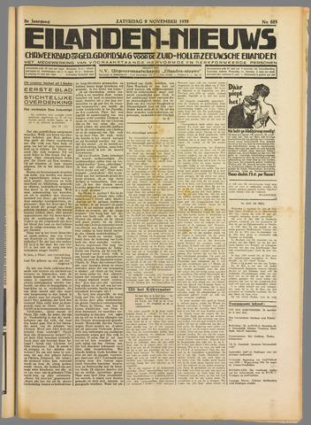 Eilanden-nieuws. Christelijk streekblad op gereformeerde grondslag 1935-11-09