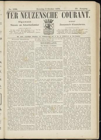 Ter Neuzensche Courant. Algemeen Nieuws- en Advertentieblad voor Zeeuwsch-Vlaanderen / Neuzensche Courant ... (idem) / (Algemeen) nieuws en advertentieblad voor Zeeuwsch-Vlaanderen 1878-10-05