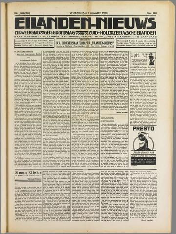 Eilanden-nieuws. Christelijk streekblad op gereformeerde grondslag 1938-03-09