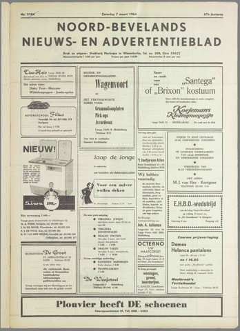 Noord-Bevelands Nieuws- en advertentieblad 1964-03-07