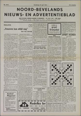 Noord-Bevelands Nieuws- en advertentieblad 1982-04-29