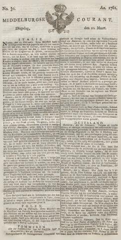 Middelburgsche Courant 1761-03-10
