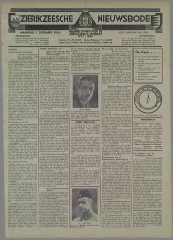 Zierikzeesche Nieuwsbode 1936-12-07