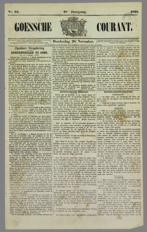 Goessche Courant 1861-11-28