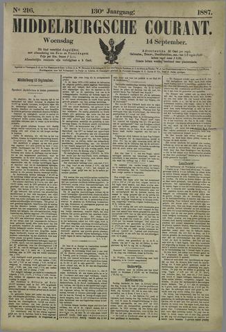 Middelburgsche Courant 1887-09-14