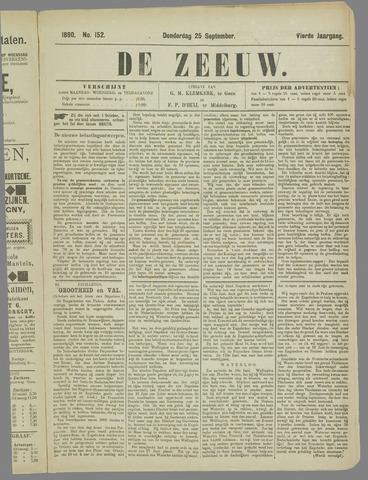 De Zeeuw. Christelijk-historisch nieuwsblad voor Zeeland 1890-09-25