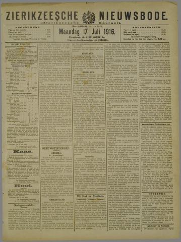 Zierikzeesche Nieuwsbode 1916-07-17