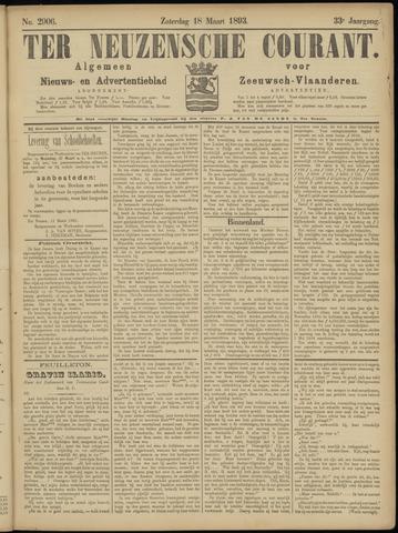 Ter Neuzensche Courant. Algemeen Nieuws- en Advertentieblad voor Zeeuwsch-Vlaanderen / Neuzensche Courant ... (idem) / (Algemeen) nieuws en advertentieblad voor Zeeuwsch-Vlaanderen 1893-03-18