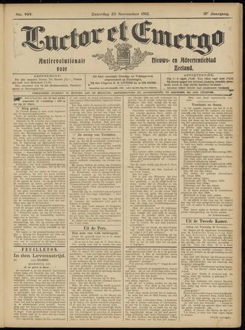Luctor et Emergo. Antirevolutionair nieuws- en advertentieblad voor Zeeland / Zeeuwsch-Vlaanderen. Orgaan ter verspreiding van de christelijke beginselen in Zeeuwsch-Vlaanderen 1912-11-23