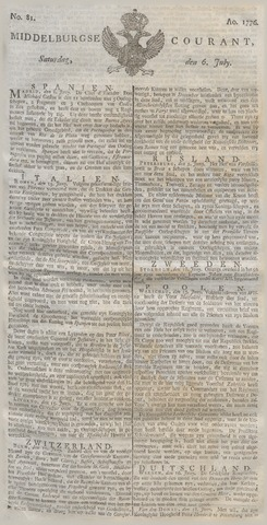 Middelburgsche Courant 1776-07-06