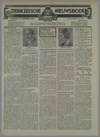 Zierikzeesche Nieuwsbode 1940-09-21