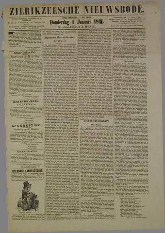 Zierikzeesche Nieuwsbode 1891-01-01