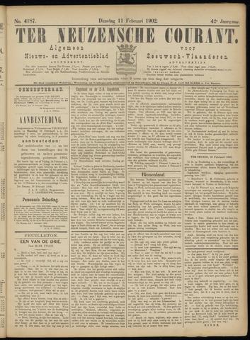 Ter Neuzensche Courant. Algemeen Nieuws- en Advertentieblad voor Zeeuwsch-Vlaanderen / Neuzensche Courant ... (idem) / (Algemeen) nieuws en advertentieblad voor Zeeuwsch-Vlaanderen 1902-02-11